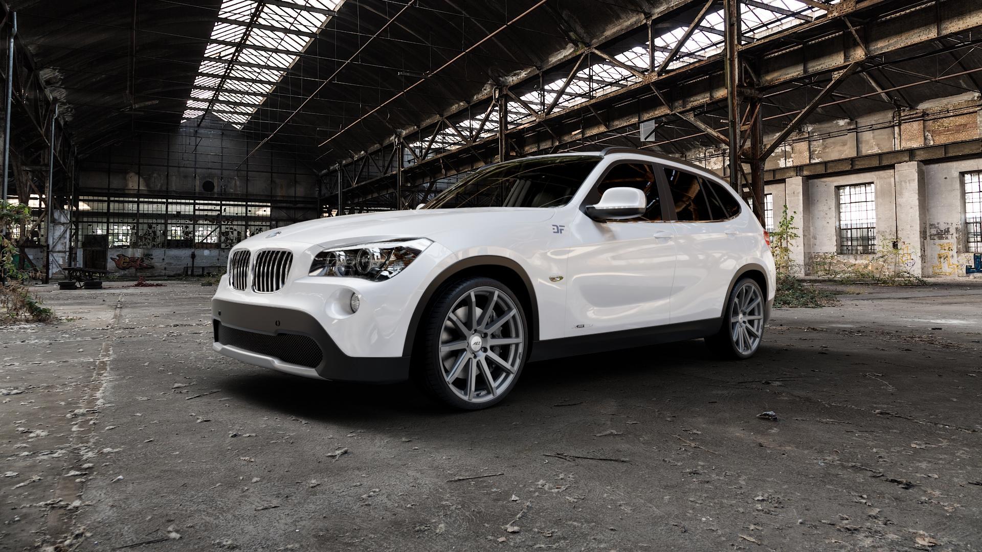 AEZ Straight Graphite matt Felge mit Reifen grau in 20Zoll Winterfelge Alufelge auf weissem BMW X1 Typ E84 (X1, X-N1, X1-N1) ⬇️ mit 15mm Tieferlegung ⬇️ Industriehalle 1 Camera_000