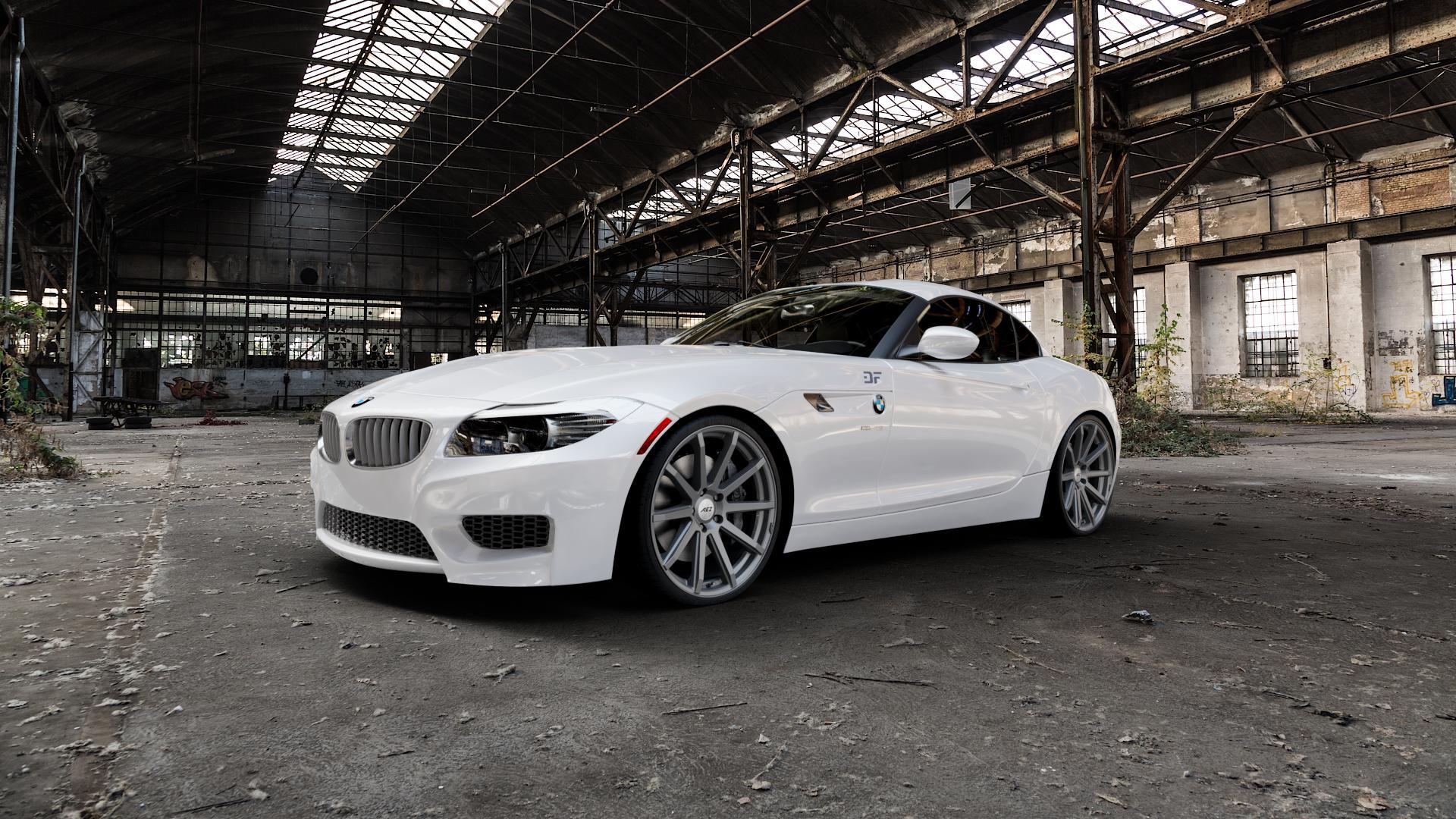 AEZ Straight Graphite matt Felge mit Reifen grau in 20Zoll Winterfelge Alufelge auf weissem BMW Z4 Roadster Typ E89 (Z89, ZR) ⬇️ mit 15mm Tieferlegung ⬇️ Industriehalle 1 Camera_000