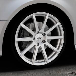 AEZ Straight Silver Felge mit Reifen silber in 19Zoll Winterfelge Alufelge auf silbernem Audi A3 Typ 8V Facelift ⬇️ mit 15mm Tieferlegung ⬇️ Industriehalle 1 Thumbnail