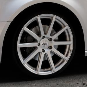AEZ Straight Silver Felge mit Reifen silber in 19Zoll Winterfelge Alufelge auf silbernem Audi A3 Typ 8V (Sportback) ⬇️ mit 15mm Tieferlegung ⬇️ Industriehalle 1 Thumbnail