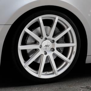 AEZ Straight Silver Felge mit Reifen silber in 19Zoll Winterfelge Alufelge auf silbernem Audi A4 Typ B9 (Avant) ⬇️ mit 15mm Tieferlegung ⬇️ Industriehalle 1 Thumbnail
