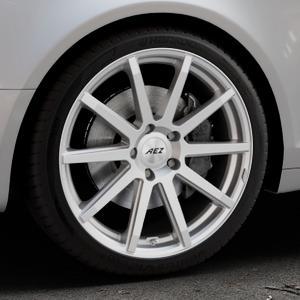 AEZ Straight Silver Felge mit Reifen silber in 19Zoll Winterfelge Alufelge auf silbernem Audi A6 Typ 4F/C6 (Avant) ⬇️ mit 15mm Tieferlegung ⬇️ Industriehalle 1 Thumbnail