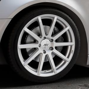 AEZ Straight Silver Felge mit Reifen silber in 19Zoll Winterfelge Alufelge auf silbernem Audi A6 Typ 4G/C7 (Avant) ⬇️ mit 15mm Tieferlegung ⬇️ Industriehalle 1 Thumbnail