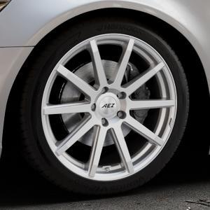 AEZ Straight Silver Felge mit Reifen silber in 19Zoll Winterfelge Alufelge auf silbernem Audi A6 Typ 4G/C7 (Limousine) ⬇️ mit 15mm Tieferlegung ⬇️ Industriehalle 1 Thumbnail