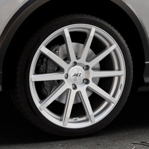 AEZ Straight Silver Felge mit Reifen silber in 19Zoll Winterfelge Alufelge auf silbernem Audi Q2 Typ GA ⬇️ mit 15mm Tieferlegung ⬇️ Industriehalle 1 Thumbnail