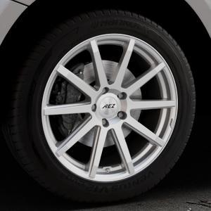 AEZ Straight Silver Felge mit Reifen silber in 19Zoll Winterfelge Alufelge auf silbernem Audi Q5 I Typ 8R ⬇️ mit 15mm Tieferlegung ⬇️ Industriehalle 1 Thumbnail