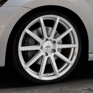 AEZ Straight Silver Felge mit Reifen silber in 19Zoll Winterfelge Alufelge auf silbernem Volkswagen (VW) Golf 7 Sportsvan ⬇️ mit 15mm Tieferlegung ⬇️ Industriehalle 1 Thumbnail