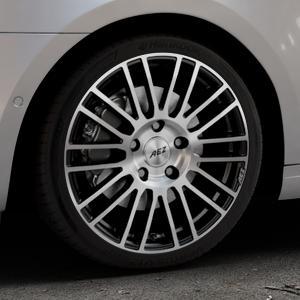 AEZ Strike Black/polished front Felge mit Reifen silber schwarz mehrfarbig in 18Zoll Alufelge auf silbernem Skoda Octavia III Kombi Typ 5E Facelift ⬇️ mit 15mm Tieferlegung ⬇️ Industriehalle 1 Thumbnail