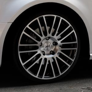 AEZ Strike Black/polished front Felge mit Reifen silber schwarz mehrfarbig in 19Zoll Alufelge auf silbernem Audi A3 Typ 8V (Sportback) ⬇️ mit 15mm Tieferlegung ⬇️ Industriehalle 1 Thumbnail