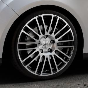 AEZ Strike Black/polished front Felge mit Reifen silber schwarz mehrfarbig in 19Zoll Alufelge auf silbernem Ford Focus III Typ DYB (Turnier) ⬇️ mit 15mm Tieferlegung ⬇️ Industriehalle 1 Thumbnail