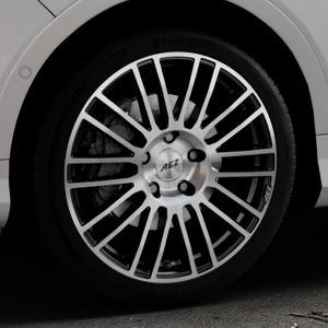 AEZ Strike Black/polished front Felge mit Reifen silber schwarz mehrfarbig in 19Zoll Alufelge auf silbernem Ford Kuga II Facelift (15->) (17->) ⬇️ mit 15mm Tieferlegung ⬇️ Industriehalle 1 Thumbnail