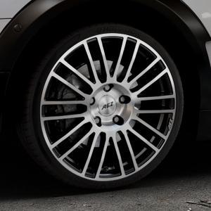 AEZ Strike Black/polished front Felge mit Reifen silber schwarz mehrfarbig in 19Zoll Alufelge auf silbernem Mini F54 Typ UKL-L (Clubman) FMK ⬇️ mit 15mm Tieferlegung ⬇️ Industriehalle 1 Thumbnail