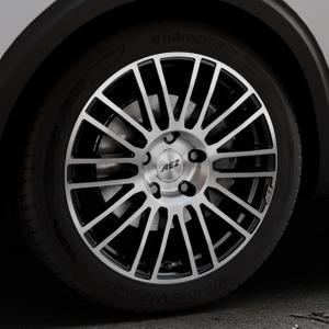 AEZ Strike Black/polished front Felge mit Reifen silber schwarz mehrfarbig in 19Zoll Alufelge auf silbernem Peugeot 5008 Typ M ⬇️ mit 15mm Tieferlegung ⬇️ Industriehalle 1 Thumbnail