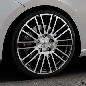 AEZ Strike Black/polished front Felge mit Reifen silber schwarz mehrfarbig in 19Zoll Alufelge auf silbernem Seat Leon Typ 5F ⬇️ mit 15mm Tieferlegung ⬇️ Industriehalle 1 Thumbnail