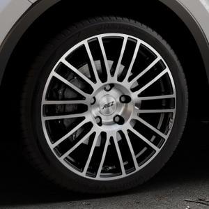 AEZ Strike Black/polished front Felge mit Reifen silber schwarz mehrfarbig in 19Zoll Alufelge auf silbernem Toyota C-HR Typ AX1T(EU,M) AX1T(EU,M)-TMG ⬇️ mit 15mm Tieferlegung ⬇️ Industriehalle 1 Thumbnail