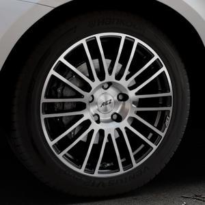 AEZ Strike Black/polished front Felge mit Reifen silber schwarz mehrfarbig in 19Zoll Alufelge auf silbernem Volvo XC60 Typ D Facelift ⬇️ mit 15mm Tieferlegung ⬇️ Industriehalle 1 Thumbnail