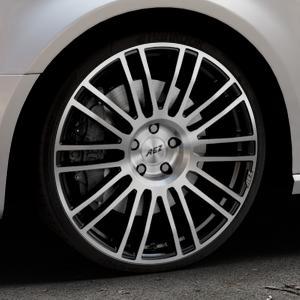 AEZ Strike Black/polished front Felge mit Reifen silber schwarz mehrfarbig in 20Zoll Alufelge auf silbernem Audi A3 Typ 8V (Sportback) ⬇️ mit 15mm Tieferlegung ⬇️ Industriehalle 1 Thumbnail