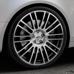 AEZ Strike Black/polished front Felge mit Reifen silber schwarz mehrfarbig in 20Zoll Alufelge auf silbernem Audi A6 Typ 4F/C6 (Avant) ⬇️ mit 15mm Tieferlegung ⬇️ Industriehalle 1 Thumbnail