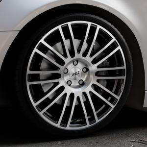 AEZ Strike Black/polished front Felge mit Reifen silber schwarz mehrfarbig in 20Zoll Alufelge auf silbernem Audi A6 Typ 4G/C7 (Avant) ⬇️ mit 15mm Tieferlegung ⬇️ Industriehalle 1 Thumbnail