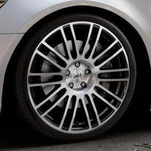 AEZ Strike Black/polished front Felge mit Reifen silber schwarz mehrfarbig in 20Zoll Alufelge auf silbernem Audi A6 Typ 4G/C7 (Limousine) ⬇️ mit 15mm Tieferlegung ⬇️ Industriehalle 1 Thumbnail