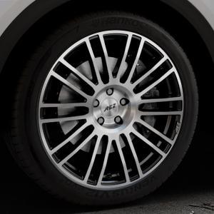AEZ Strike Black/polished front Felge mit Reifen silber schwarz mehrfarbig in 20Zoll Alufelge auf silbernem Audi Q5 II Typ FY ⬇️ mit 15mm Tieferlegung ⬇️ Industriehalle 1 Thumbnail