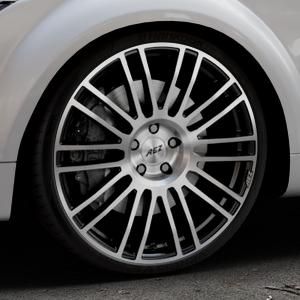 AEZ Strike Black/polished front Felge mit Reifen silber schwarz mehrfarbig in 20Zoll Alufelge auf silbernem Audi TT II Typ 8J (Roadster) ⬇️ mit 15mm Tieferlegung ⬇️ Industriehalle 1 Thumbnail