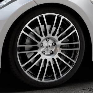 AEZ Strike Black/polished front Felge mit Reifen silber schwarz mehrfarbig in 20Zoll Alufelge auf silbernem Tesla Model S Typ 002 ⬇️ mit 15mm Tieferlegung ⬇️ Industriehalle 1 Thumbnail