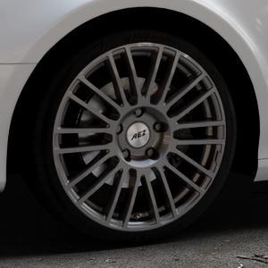 AEZ Strike Graphite matt Felge mit Reifen grau in 19Zoll Winterfelge Alufelge auf silbernem Audi A4 Typ 8K5/B8 (Avant) ⬇️ mit 15mm Tieferlegung ⬇️ Industriehalle 1 Thumbnail