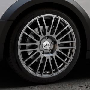 AEZ Strike Graphite matt Felge mit Reifen grau in 19Zoll Winterfelge Alufelge auf silbernem Audi A4 Typ B9 Allroad ⬇️ mit 15mm Tieferlegung ⬇️ Industriehalle 1 Thumbnail
