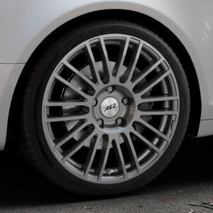 AEZ Strike Graphite matt Felge mit Reifen grau in 19Zoll Winterfelge Alufelge auf silbernem Audi A6 Typ 4F/C6 (Avant) ⬇️ mit 15mm Tieferlegung ⬇️ Industriehalle 1 Thumbnail