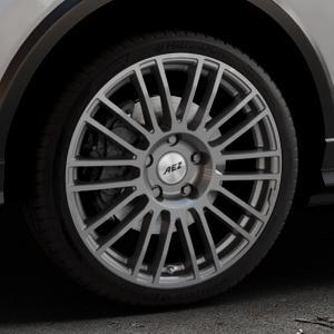 AEZ Strike Graphite matt Felge mit Reifen grau in 19Zoll Winterfelge Alufelge auf silbernem Audi Q2 Typ GA ⬇️ mit 15mm Tieferlegung ⬇️ Industriehalle 1 Thumbnail