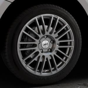 AEZ Strike Graphite matt Felge mit Reifen grau in 19Zoll Winterfelge Alufelge auf silbernem Audi Q5 I Typ 8R ⬇️ mit 15mm Tieferlegung ⬇️ Industriehalle 1 Thumbnail
