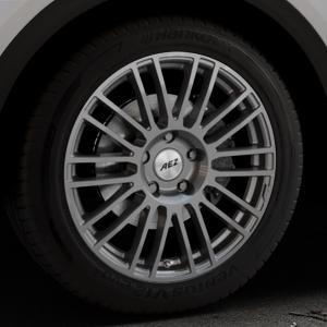 AEZ Strike Graphite matt Felge mit Reifen grau in 19Zoll Winterfelge Alufelge auf silbernem Audi Q5 II Typ FY ⬇️ mit 15mm Tieferlegung ⬇️ Industriehalle 1 Thumbnail