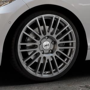 AEZ Strike Graphite matt Felge mit Reifen grau in 19Zoll Winterfelge Alufelge auf silbernem BMW 220d Typ F22 (Coupé) 220i 218d 225d 228i 218i xDrive 230i ⬇️ mit 15mm Tieferlegung ⬇️ Industriehalle 1 Thumbnail