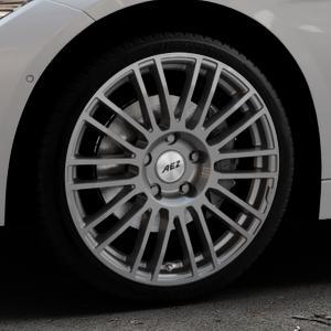 AEZ Strike Graphite matt Felge mit Reifen grau in 19Zoll Winterfelge Alufelge auf silbernem BMW 320i Typ F30 (Limousine) 328i 335i 320d 318d 316d 316i 330d xDrive EffDyn Edition 325d 335d ActiveHybrid 318i ⬇️ mit 15mm Tieferlegung ⬇️ Industriehalle 1 Thumbnail