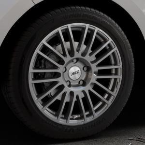 AEZ Strike Graphite matt Felge mit Reifen grau in 19Zoll Winterfelge Alufelge auf silbernem Ford Edge Typ SBF ⬇️ mit 15mm Tieferlegung ⬇️ Industriehalle 1 Thumbnail