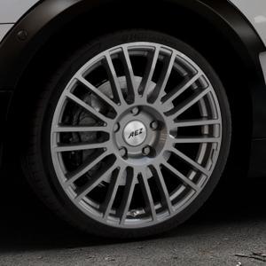 AEZ Strike Graphite matt Felge mit Reifen grau in 19Zoll Winterfelge Alufelge auf silbernem Mini F54 Typ UKL-L (Clubman) FMK ⬇️ mit 15mm Tieferlegung ⬇️ Industriehalle 1 Thumbnail