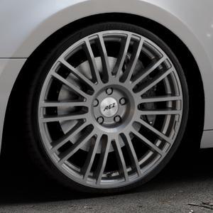 AEZ Strike Graphite matt Felge mit Reifen grau in 20Zoll Winterfelge Alufelge auf silbernem Audi A4 Typ B9 (Avant) ⬇️ mit 15mm Tieferlegung ⬇️ Industriehalle 1 Thumbnail