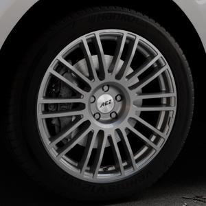AEZ Strike Graphite matt Felge mit Reifen grau in 20Zoll Winterfelge Alufelge auf silbernem Jaguar F-Pace Typ DC ⬇️ mit 15mm Tieferlegung ⬇️ Industriehalle 1 Thumbnail
