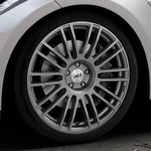 AEZ Strike Graphite matt Felge mit Reifen grau in 20Zoll Winterfelge Alufelge auf silbernem Tesla Model S Typ 002 ⬇️ mit 15mm Tieferlegung ⬇️ Industriehalle 1 Thumbnail