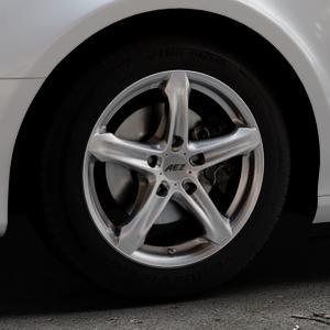 AEZ Yacht Black Felge mit Reifen schwarz in 16Zoll Winterfelge Alufelge auf silbernem Audi A4 Typ 8K5/B8 (Avant) ⬇️ mit 15mm Tieferlegung ⬇️ Industriehalle 1 Thumbnail