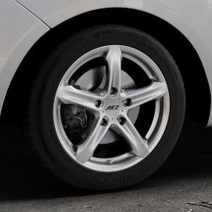 AEZ Yacht Black Felge mit Reifen schwarz in 16Zoll Winterfelge Alufelge auf silbernem Hyundai ix20 Typ JC ⬇️ mit 15mm Tieferlegung ⬇️ Industriehalle 1 Thumbnail