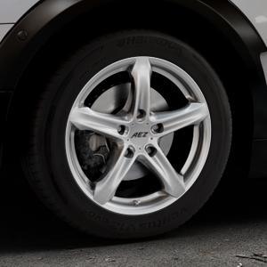 AEZ Yacht Black Felge mit Reifen schwarz in 16Zoll Winterfelge Alufelge auf silbernem Mini F54 Typ UKL-L (Clubman) FMK ⬇️ mit 15mm Tieferlegung ⬇️ Industriehalle 1 Thumbnail
