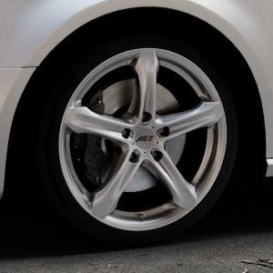 AEZ Yacht Black Felge mit Reifen schwarz in 18Zoll Winterfelge Alufelge auf silbernem Audi A3 Typ 8V (Sportback) ⬇️ mit 15mm Tieferlegung ⬇️ Industriehalle 1 Thumbnail