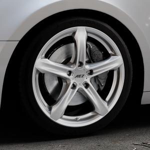 AEZ Yacht Black Felge mit Reifen schwarz in 18Zoll Winterfelge Alufelge auf silbernem Audi A4 Typ B9 (Avant) ⬇️ mit 15mm Tieferlegung ⬇️ Industriehalle 1 Thumbnail