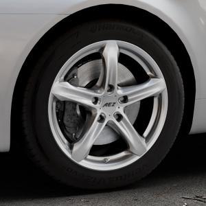 AEZ Yacht High gloss Felge mit Reifen silber in 17Zoll Winterfelge Alufelge auf silbernem Alfa Romeo 159 Sportwagon ⬇️ mit 15mm Tieferlegung ⬇️ Industriehalle 1 Thumbnail
