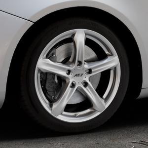 AEZ Yacht High gloss Felge mit Reifen silber in 17Zoll Winterfelge Alufelge auf silbernem Alfa Romeo Giulietta Typ 940 ⬇️ mit 15mm Tieferlegung ⬇️ Industriehalle 1 Thumbnail