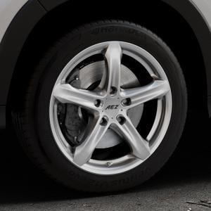 AEZ Yacht High gloss Felge mit Reifen silber in 17Zoll Winterfelge Alufelge auf silbernem Honda HR-V II (RU) ⬇️ mit 15mm Tieferlegung ⬇️ Industriehalle 1 Thumbnail