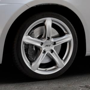 AEZ Yacht High gloss Felge mit Reifen silber in 17Zoll Winterfelge Alufelge auf silbernem Suzuki Swift V Typ NZ FZ ⬇️ mit 15mm Tieferlegung ⬇️ Industriehalle 1 Thumbnail