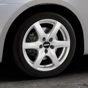 ALUTEC Blizzard polar-silber Felge mit Reifen in 16Zoll Winterfelge Alufelge auf silbernem Suzuki Swift V Typ NZ FZ ⬇️ mit 15mm Tieferlegung ⬇️ Industriehalle 1 Thumbnail